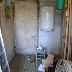 Будущая ванная комната в частном доме