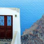 Входная дверь на море (остров Санторини)